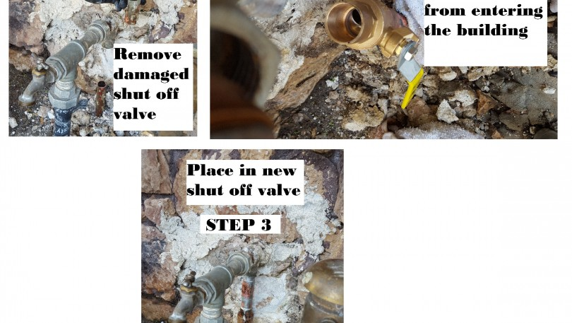 Repairing damaged shut off valve