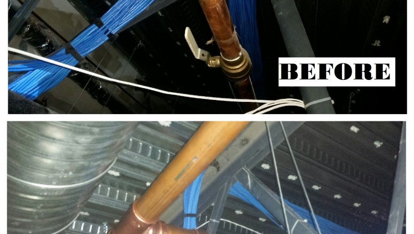 Commercial job- Leaking water line